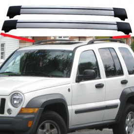 Jeep Cherokee Liberty (KJ/KK) 2002–2007 Aero Cross Bars Set Aluminium Spoiler