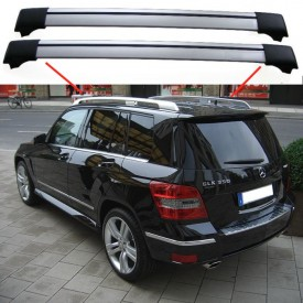 Mercedes-Benz GLK-Class X204 2009+ SUV Estate Break Aero Cross Bars Set Aluminium Spoiler