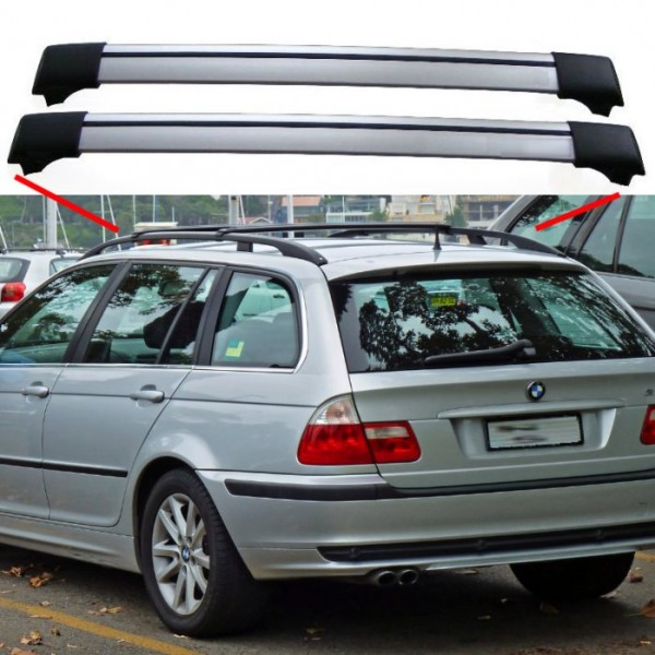 Bmw 3 Series E46 From 04 98 Estate Aero Cross Bars Roof