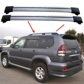 Toyota Land Cruiser Prado J120 2002-2009 Aero Cross Bars Set Aluminium Spoiler