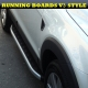 Nissan Navara D40, Nissan Frontier USA 2006+ Side Bars ALUMINIUM STYLING RUNNING BOARDS SET