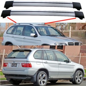 BMW X5 E53 1999-2006 Aero Cross Bars Set Aluminium Spoiler